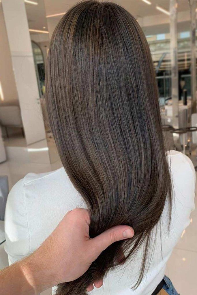 Dark Ashy Brown Hair Color #brownhair #brunette