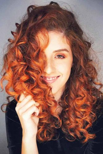 Bright Copper Ombre #redhair #curlyhair #ombre
