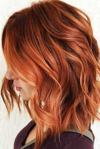 Sunset Bright Copper Hair #redhair #wavyhair #bob