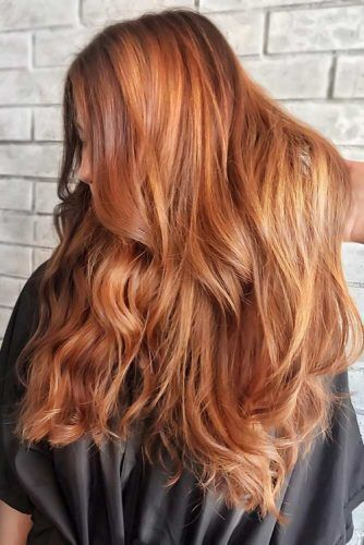 Gold Tinged Copper Hair #copperhair