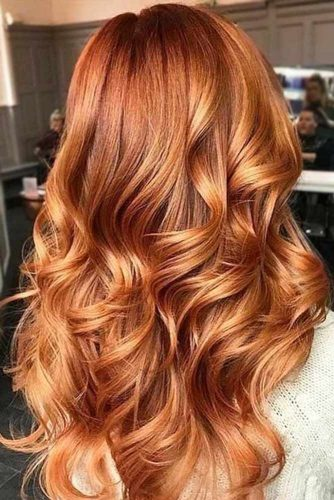 Golden Copper Hair Tones #redhair #wavyhair