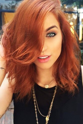 Copper Hair Color #redhair #mediumhair