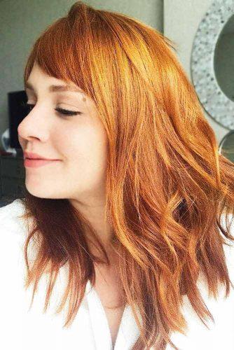 Pumpkin Spice Copper #redhair #mediumhair #wavyhair