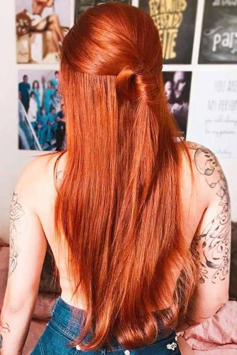 Red Copper Hair Color #redhair #longhair #straigthhair