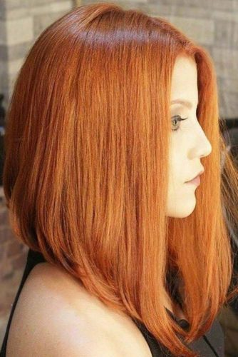 Subtle Copper Color #redhair #bob