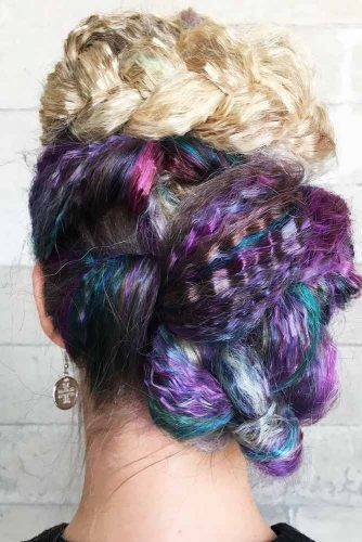 Braids And Twists With Tails And Crimps #braids #updo