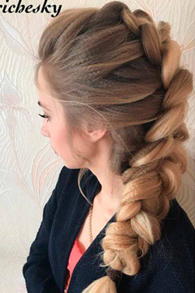 Sassy Braided Faux Hawk Hairstyle