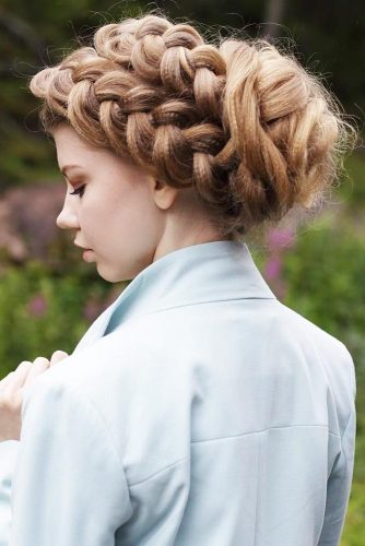 Double Dutch Braid Updo #updo #braids