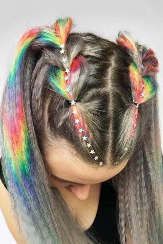 Multidimensional Crimped Pull Through Braids #crimpedhair