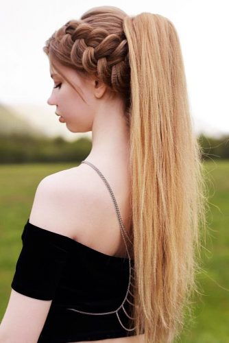 Dutch Braid Into A High Ponytail #braids #ponytail
