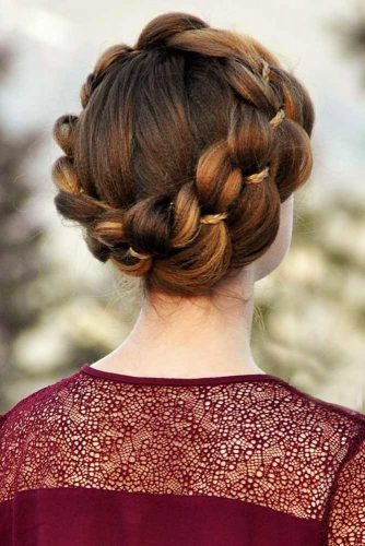 Textured Dutch 4-Strand Crown Braid With A Micro Braid #braids #updo