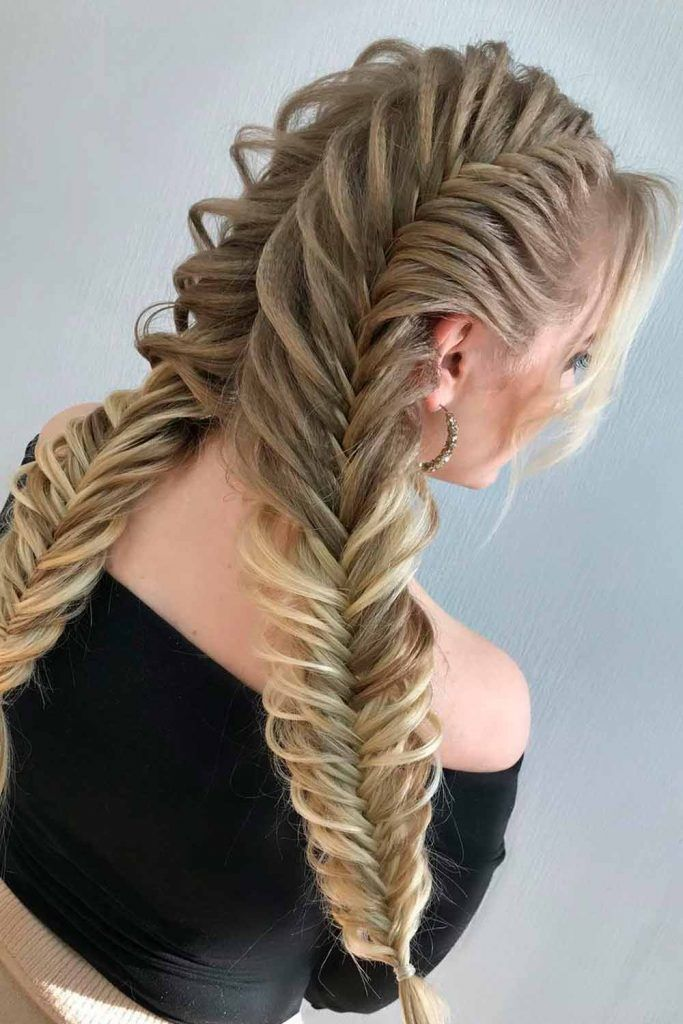 Voluminous Dutch Fishtail Pigtails