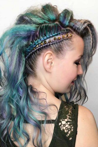 Sassy Braided Faux Hawk Hairstyle #crimpedhair
