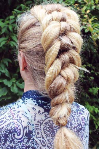 Chic Knotted Braid Style #braids #fauxhawk