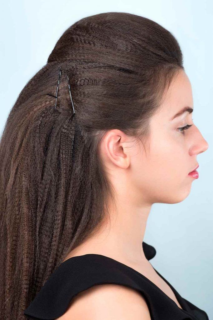 Simple Crimped Half-Up Style