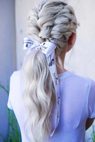 Full Braided Top Into A Low Wavy Ponytail #ponytail #longhair