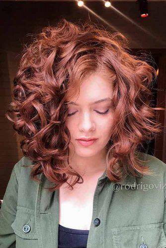 Auburn Lob #curlybob #haircuts #bobhaircuts #longbob