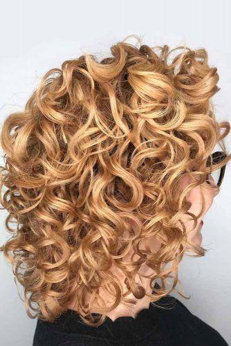 Golden Shag #curlybob #haircuts #bobhaircuts #longbob