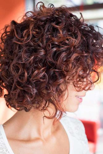 Medium Bob With Bangs #curlybob #haircuts #bobhaircuts #layeredbob #mediumbob