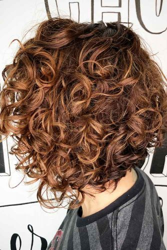 Voluminous Stacked Bob Haircut #curlybob #haircuts #bobhaircuts #curlyhairstyles #mediumbob