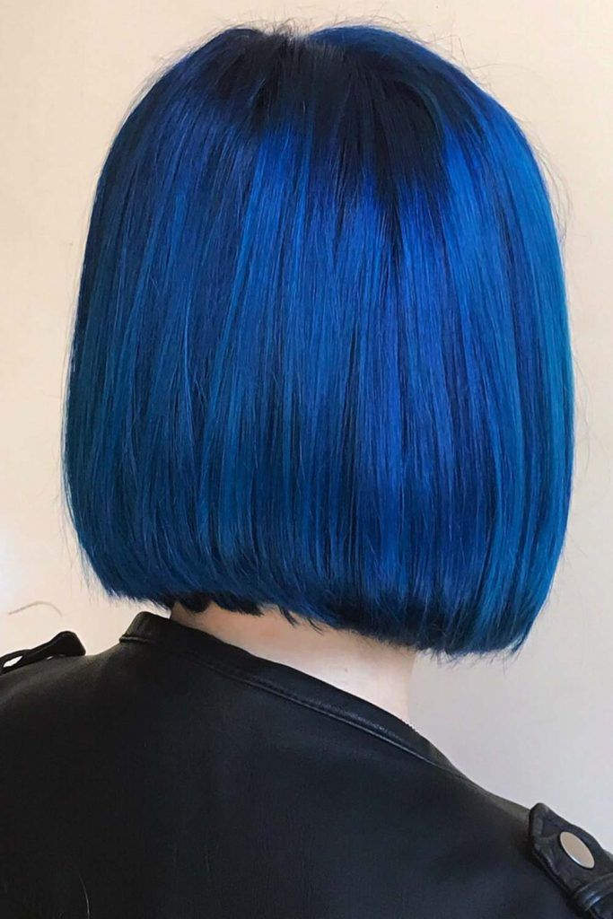 Denim Blue On Black Hair #blueblackhair #darkblueblackhair