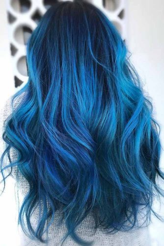 Black Cobalt Hair #bluehair #brunette #ombre