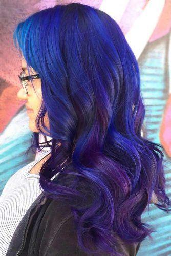 Purplish Blue Black Hair Hidden #blueblackhair #darkbluehair