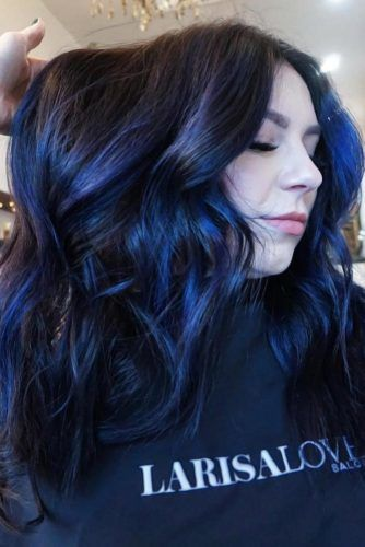 Indigo Blue Ombre #bluehair #blackbluehair #brunette