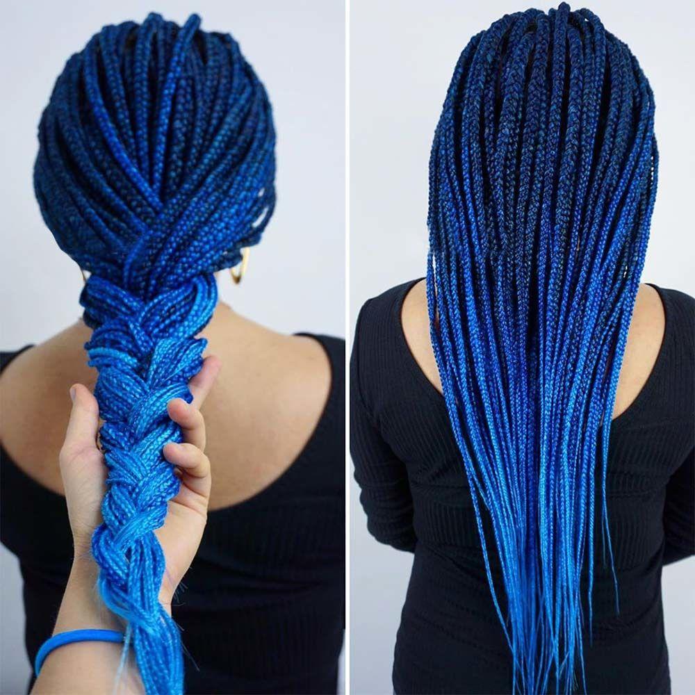 Indigo Blue Ombre #blueblackhair #darkblueblackhair