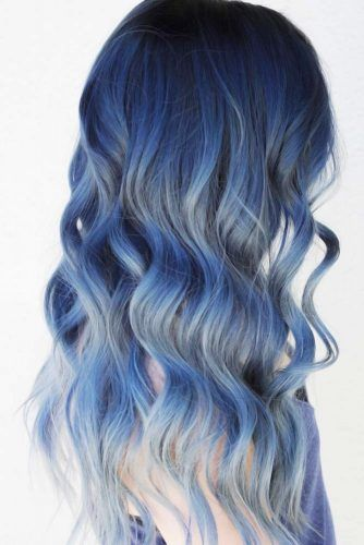 Nightfall Blue #brunette #highlights