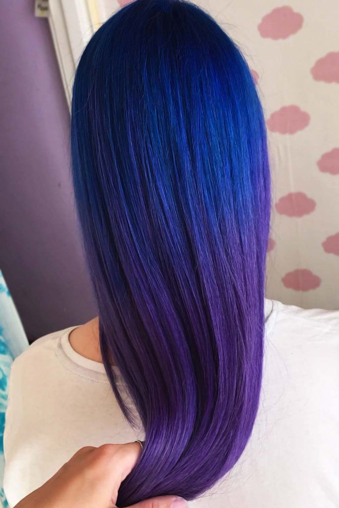 Dark Blue With Purple Tones #blueblackhair #darkblueblackhair
