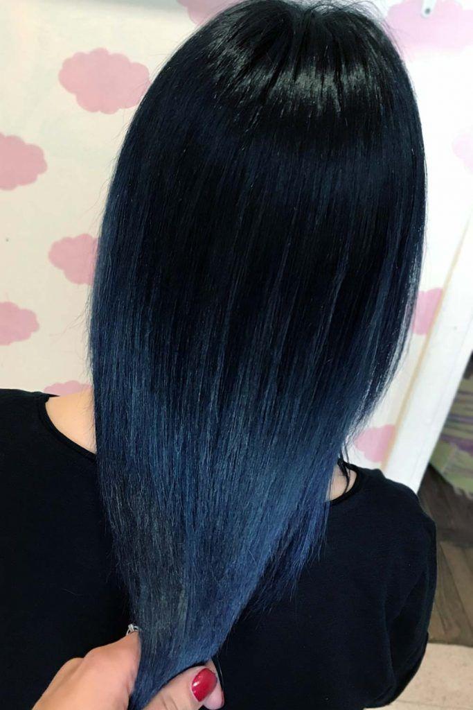 Black Hair With Blue Undertone #blueblackhair #darkblueblackhair