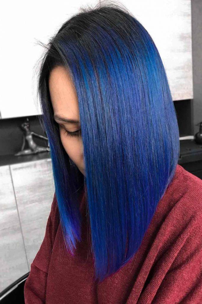 Black Cobalt Hair #blueblackhair #darkblueblackhair