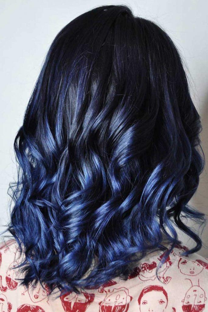 Deep And Gentle Vibrant Blue #blueblackhair #darkblueblackhair