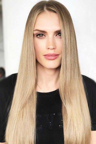 Stylishly Neutral Beige Blonde #blondehair #straighthair #longhair