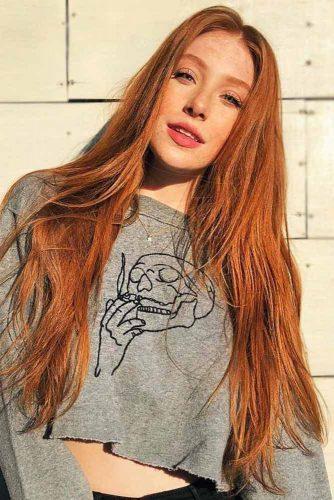 Outstanding Copper Hair Color #redhair #longhair