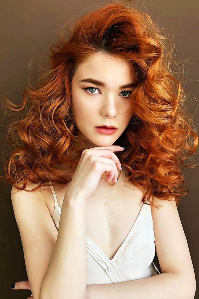 Goldish Copper #haircolorchart #redhair