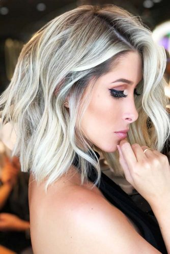 Cool And Chic Light Ash Blonde #blondehair #bob