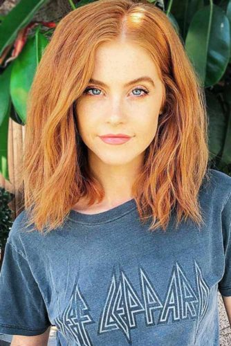 Tasteful Light Copper Hair Color #redhair #mediumhair