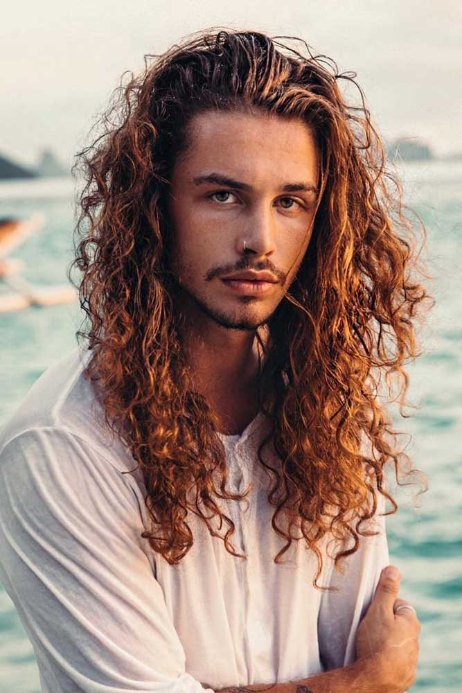 Long Curly Hair #curlyhair #menshairstyles #menslonghairstyles