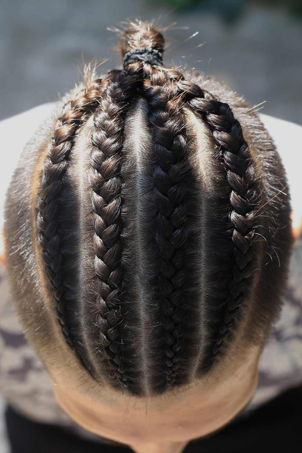 Men's Hairstyle with Dutch Braids