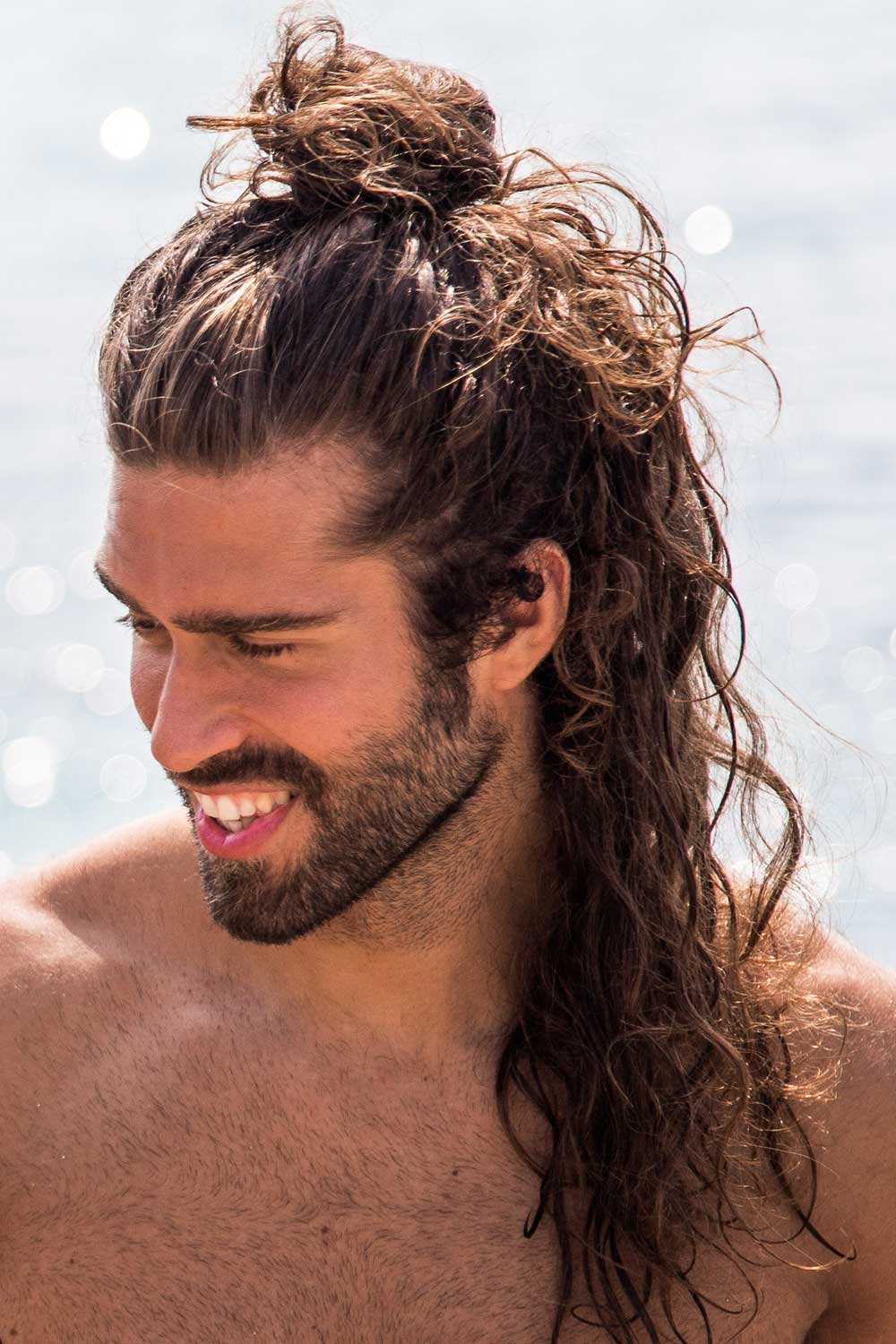 Half-Up Hairstyle For Long Hair Men