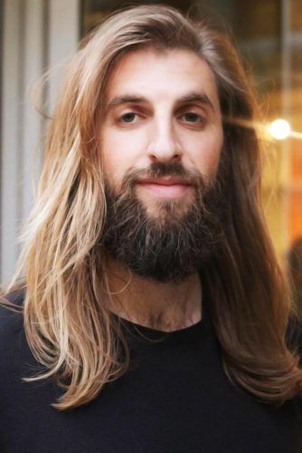Messy Side Styling With Long Beard #longhair