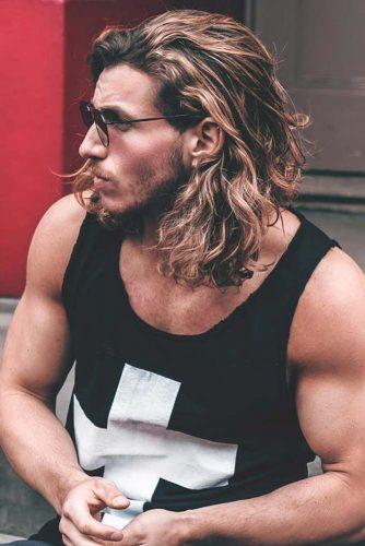 Shoulder Length Surfer Hair #surferhair #menshairstyles #menslonghairstyles