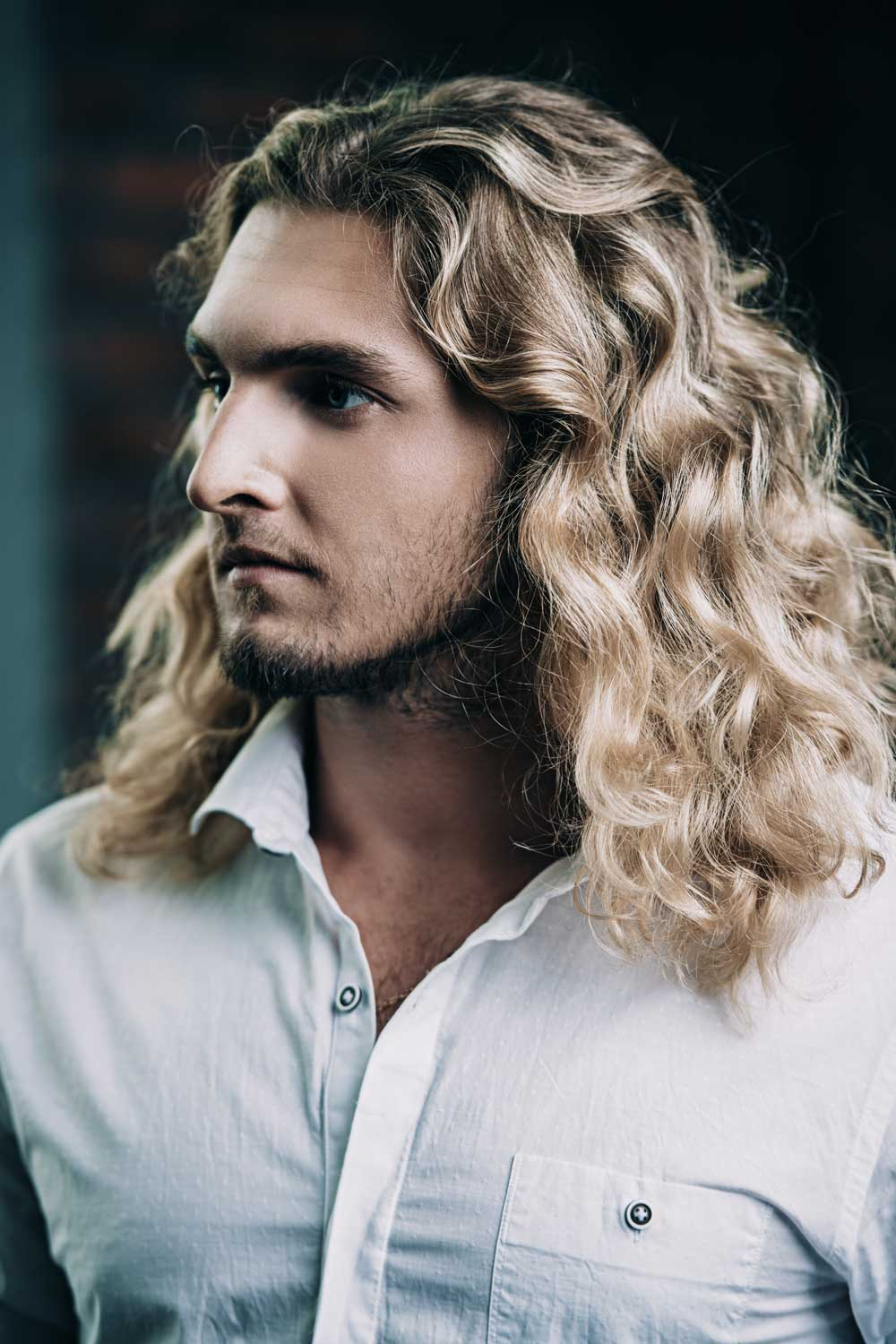 Long Textured Waves For Men With Long Hair