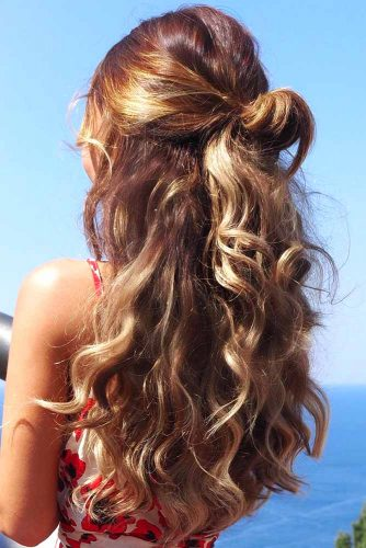 Simple And Gorgeous Half-Up Knot #messyhair #half-up #longhair