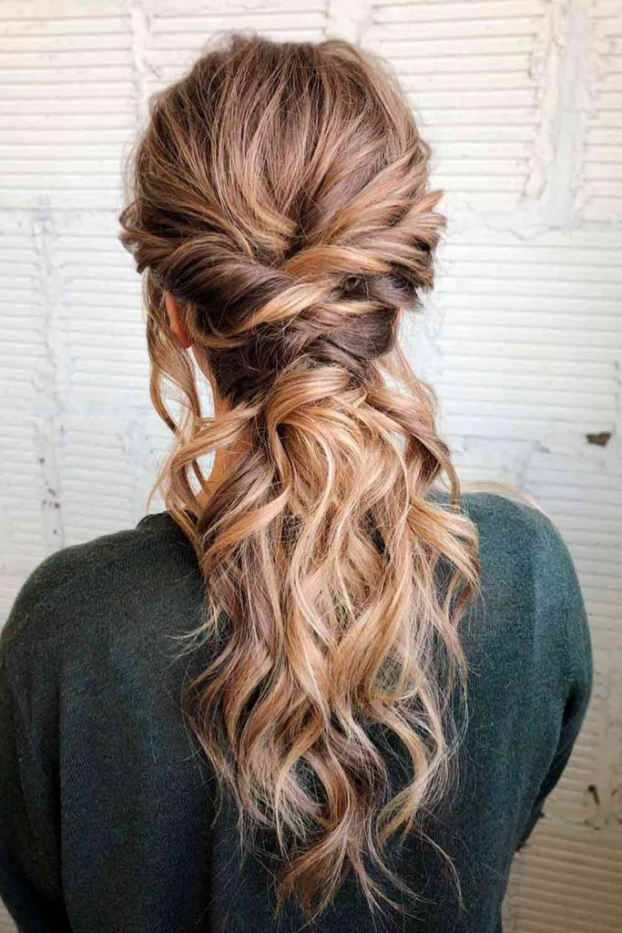 Messy Twisted Ponytails #twistedhairstyles #easyhairstyles