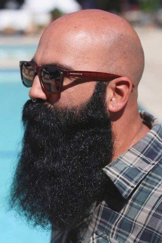 Bald Head #recedinghairline #baldhead #fullbeard