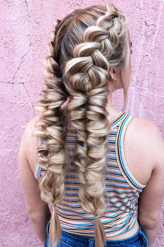 Double Dutch Braids Into Topsy Tails #braids #topsytail