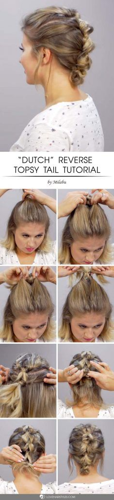 Dutch Reverse Topsy Tail #topsytail #tutorials #hairstyles